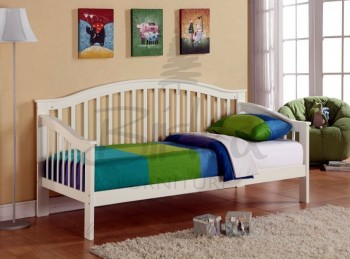 Birlea Savannah Wooden Day Bed Frame with White Finish