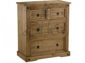 Birlea Corona Pine 2+2 Chest of Drawers