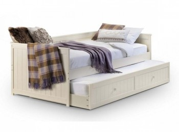 Julian Bowen Jessica Stone White Wooden Day Bed with Underbed