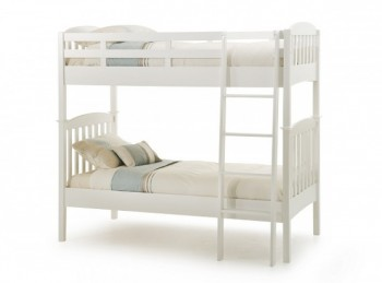 Serene Eleanor 3ft Single White Wooden Bunk Bed