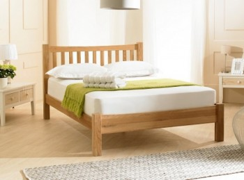 Emporia Milan 4ft6 Double Solid Oak Bed Frame