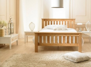 Emporia Richmond 4ft6 Double Solid Oak Bed Frame