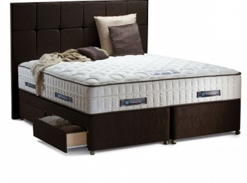 Sealy Lombardo 2400 Pocket Platinum 6ft Super Kingsize Divan Bed