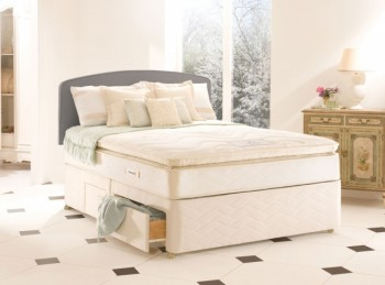 Sealy Romance 3ft Single Silver Collection Divan Bed