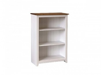 Core Capri White Low Bookcase