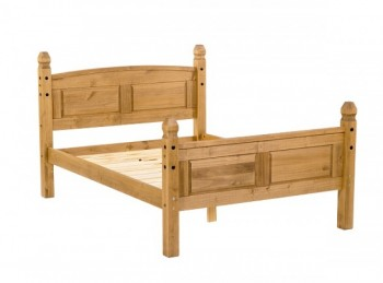 Core Corona 4ft6 Double Pine Wooden Bed
