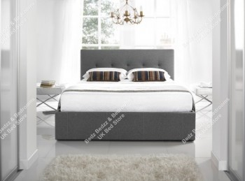 Kaydian Hexham 4ft6 Double Grey Fabric Bed