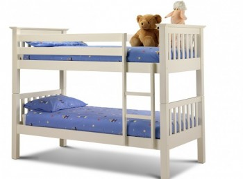 Julian Bowen Barcelona Stone White Wooden Bunk Bed