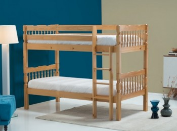 Birlea Weston 3ft Single Wooden Pine Bunk Bed Frame