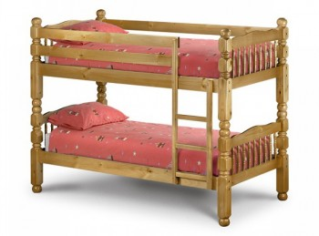 Julian Bowen Chunky Pine 3ft Childrens Bunk Bed