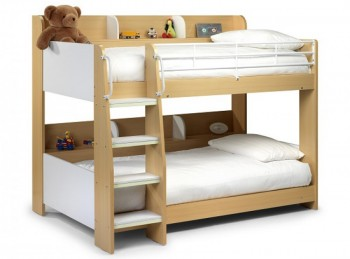 Julian Bowen Domino Bunk Bed in Maple and White