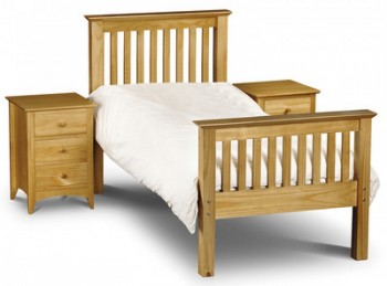 Julian Bowen Barcelona High Foot End Pine 3ft Single Wooden Bed