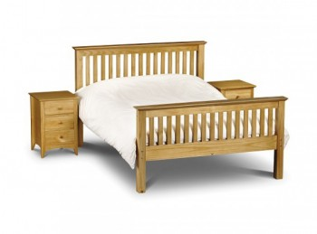 Julian Bowen Barcelona High Foot End Pine 4ft6 Double Wooden Bed