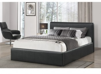 Birlea Ottoman 4ft Small Double Black Faux Leather Bed Frame