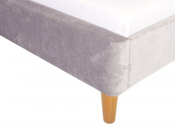 Gfw Regal 5ft Kingsize Grey Upholstered Fabric Ottoman Bed