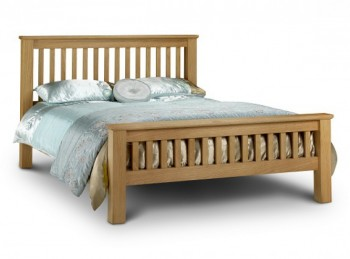 Julian Bowen Amsterdam 6ft Super Kingsize Oak Bed Frame High Foot End