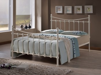 Time Living Florida 3ft Single Ivory Metal Bed Frame