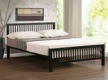 Time Living Meridian 5ft Kingsize Black Metal Bed Frame