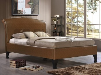 Birlea Andorra Tan 5ft Kingsize Faux Leather Bed Frame