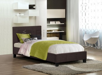 Birlea Berlin 3ft Single Chocolate Fabric Bed Frame