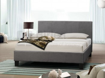 birlea berlin 4ft6 double grey fabric bed frame