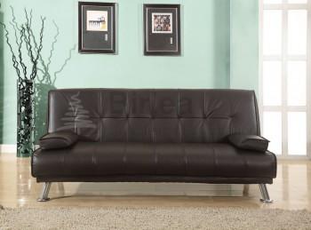 Birlea franklin brown faux leather sofa bed by birlea for Affordable furniture franklin la