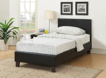 Birlea Berlin 3ft Single Black Faux Leather Bed Frame