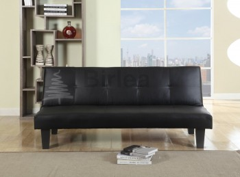 Birlea Franklin Black Faux Leather Sofa Bed