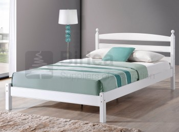 Birlea Oslo 4ft Small Double White Wooden Bed Frame