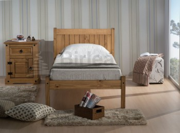 Birlea Rio 3ft Single Pine Wooden Bed Frame