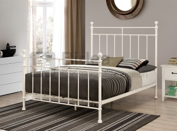 Birlea Clara 5ft Kingsize Cream  Metal Bed Frame