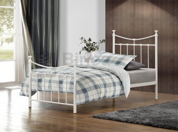 Birlea Emily 3ft Single Cream Metal Bed Frame