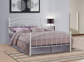 Birlea Eleanor 4ft Small Double White Metal Bed Frame