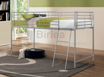 Birlea Luna 3ft Single Silver Metal Mid Sleeper Bed Frame