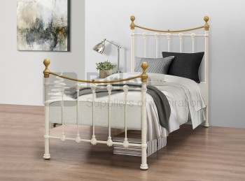 Birlea Montrose 3ft Single Cream Metal Bed Frame