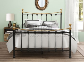 Birlea Montrose 4ft Small Double Black Metal Bed Frame