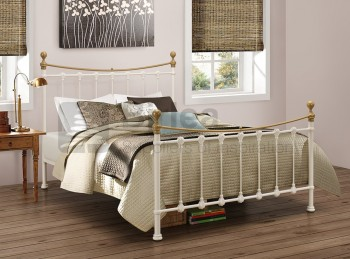 Birlea Montrose 4ft6 Double Cream Metal Bed Frame