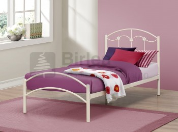 Birlea Poppy 3ft Single Cream Metal Bed Frame