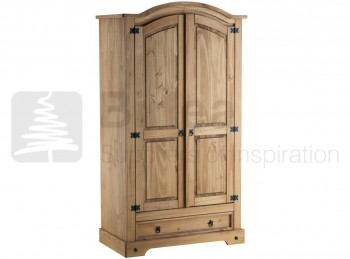 Birlea Corona Pine 2 Door 1 Drawer Wardrobe