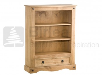 Birlea Corona Pine 1 Drawer Bookcase