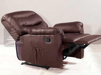 Birlea Regency Brown Faux Leather Rise And Recline Chair