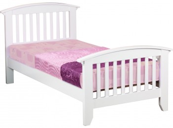 Sweet Dreams Ruby White 3ft Single Bed Frame
