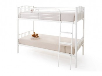 Serene Oslo White Metal Bunk Bed
