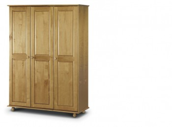Julian Bowen Pickwick Pine Wooden 3 Door Fitted Wardrobe