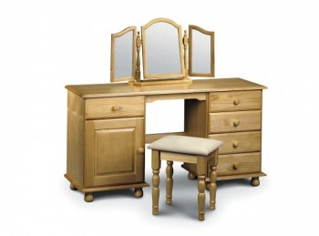 Julian Bowen Pickwick Pine Twin Pedestal Dressing Table