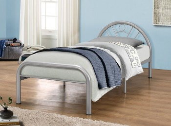 Birlea Solo 3ft Single Silver Metal Bed Frame