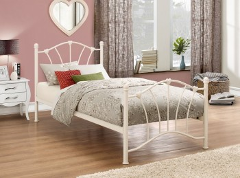 Birlea Sophia 3ft Single Cream Metal Bed Frame