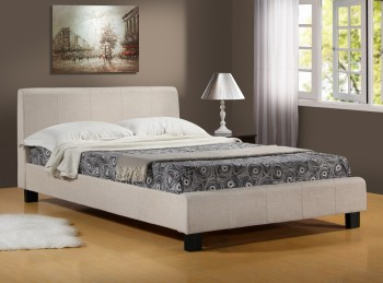 Time Living Hamburg 3ft Single Oatmeal Fabric Bed Frame