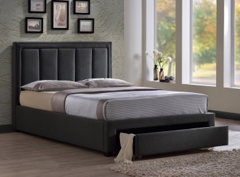 Time Living Atlanta 4ft6 Double Grey Fabric Bed Frame