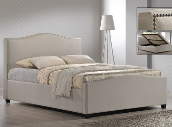 Time Living Brunswick 4ft6 Double Sand Fabric Ottoman Bed Frame